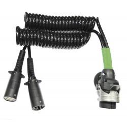 Cable conexión eléctrica ISO 12098 - 1185 - 3731 N / S 24V 15 polos + conexión adaptable a 7 + 7 polos