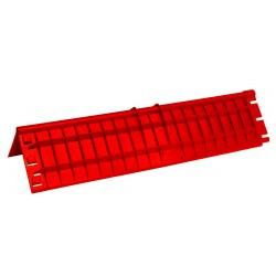Protector Bordes 40cm X180mm Rojo