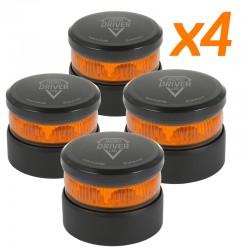 PACK 4 unidades Baliza V16 Hero Driver LED