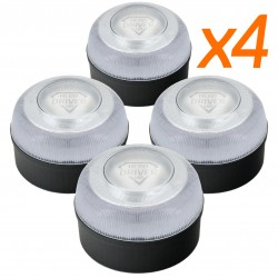 Rotativo Ambar 12V./24V. LED - 12/24 V.